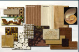 Interior design concept - Presidential suite materials.