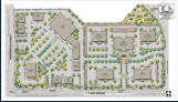 Approved mixed-use development site plan entitled by The Robert Mayer Corporation.