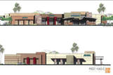 Rendering of neighborhood commercial uses.