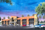 Rendering of medical professional offices.
