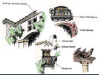 Typical community design features as architectural guidelines for merchant builders.